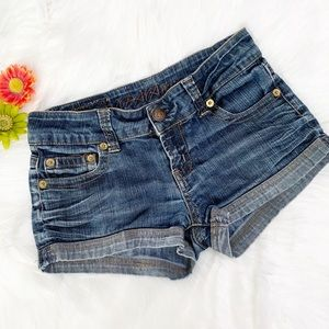 Papaya Premium Cuffed Denim Shorts